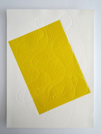 Alexander Bühler Untitled (yellow field) 2015